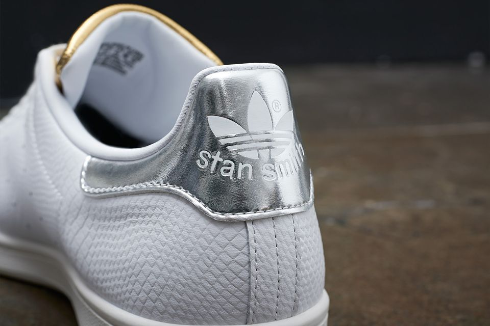stan smith adidas donna silver