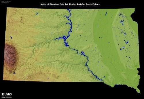 Shaded Relief Map Of The US State Of South Dakota MAPS Pinterest - Relief map us