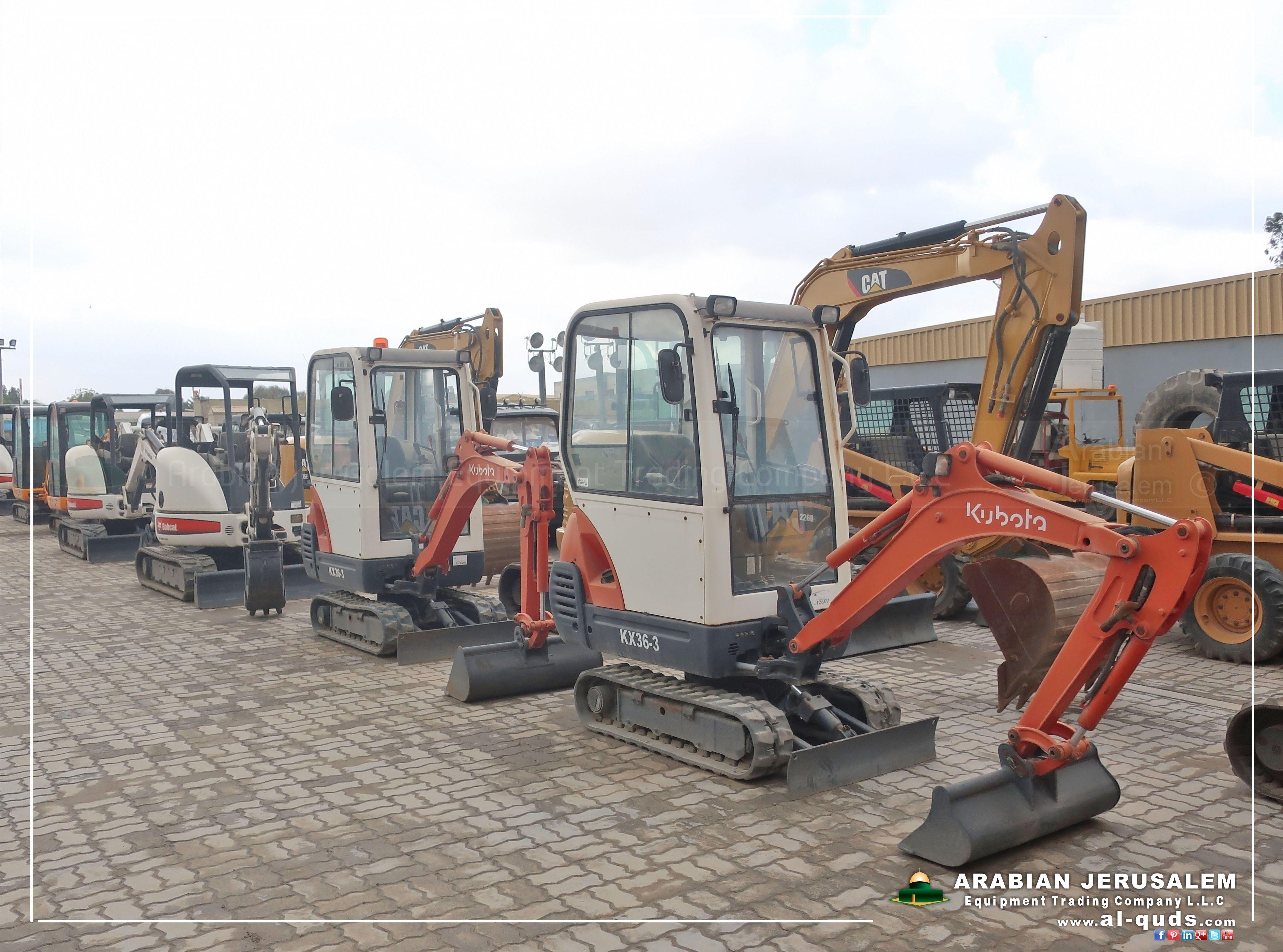 Kubota #BOBCAT #CAT Mini Hydraulic #Excavators - Available