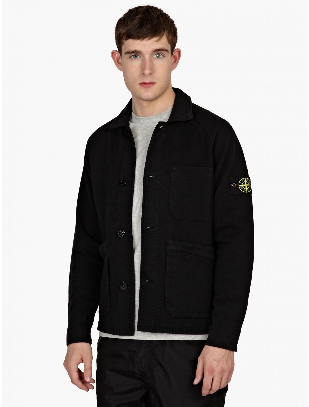 9f0b68c7 Stone Island Black Heavy Cotton Work Jacket | oki-ni | Stone Island ...