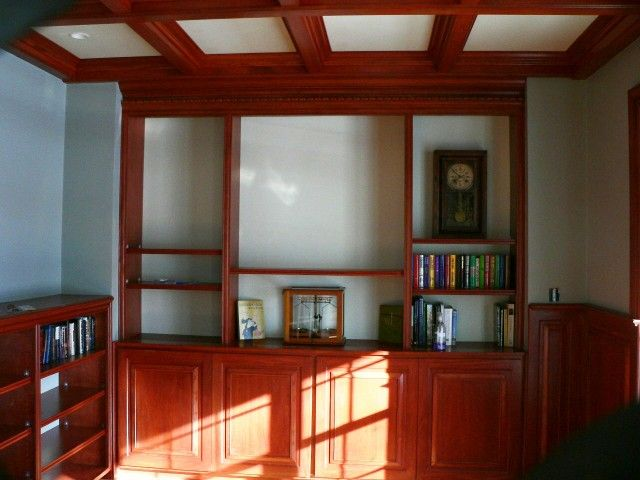 Library in African Mahogany