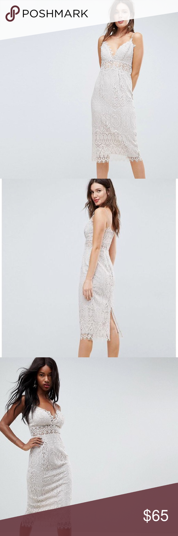 7c01801bef29 ASOS Lace Cami Midi Pencil Dress Dress by ASOS Collection. In perfect  condition, brand