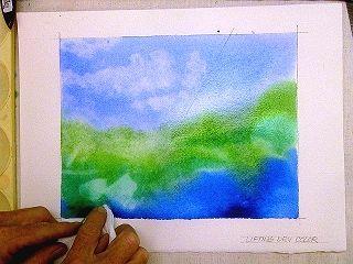 Watercolor Technique To Lift Erase Remove Wet Paint