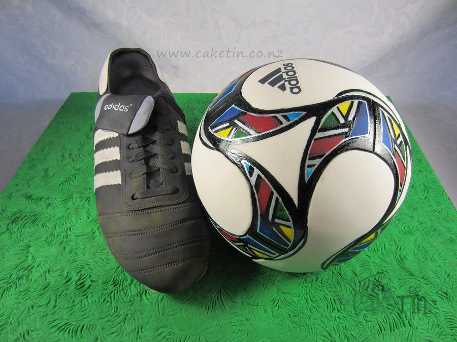 Football Boot and UEFA 2009 Ball Cake by The Cake Tin