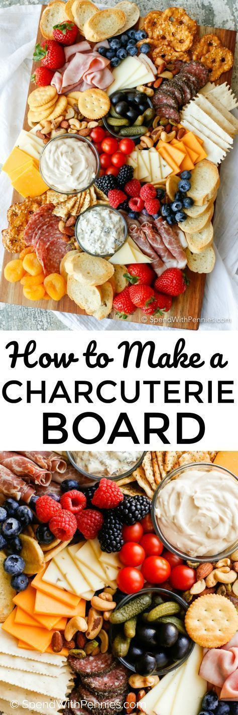 A beautiful meat and cheese board is the perfect party snack and takes just minu... - Essen amp Trin