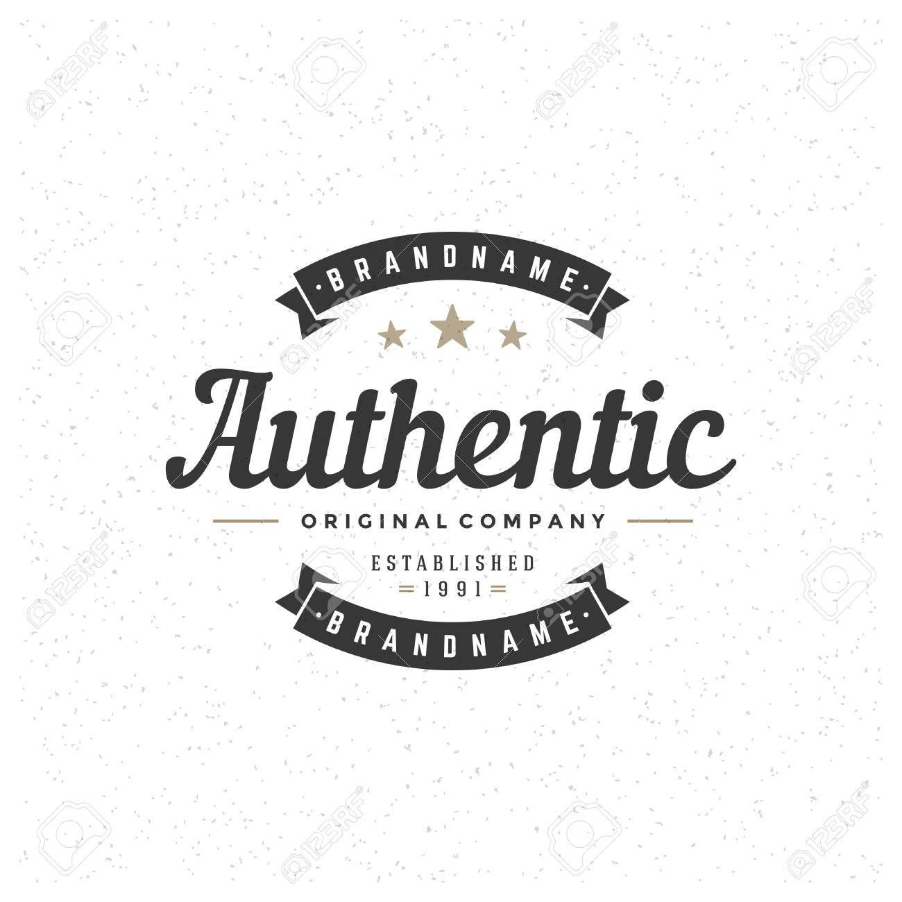 Retro Vintage Insignia Logotype Label Or Badge Vector Design Element Business Sign Template Aff Logoty Business Signs Logotype