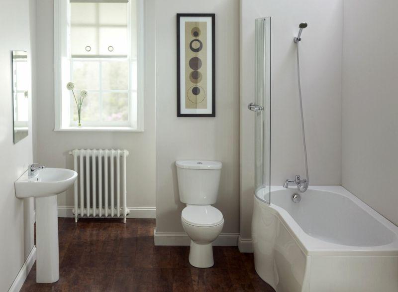 badezimmer kleines schlicht einrichtung duschbadewanne schiebetuer - parkett im badezimmer