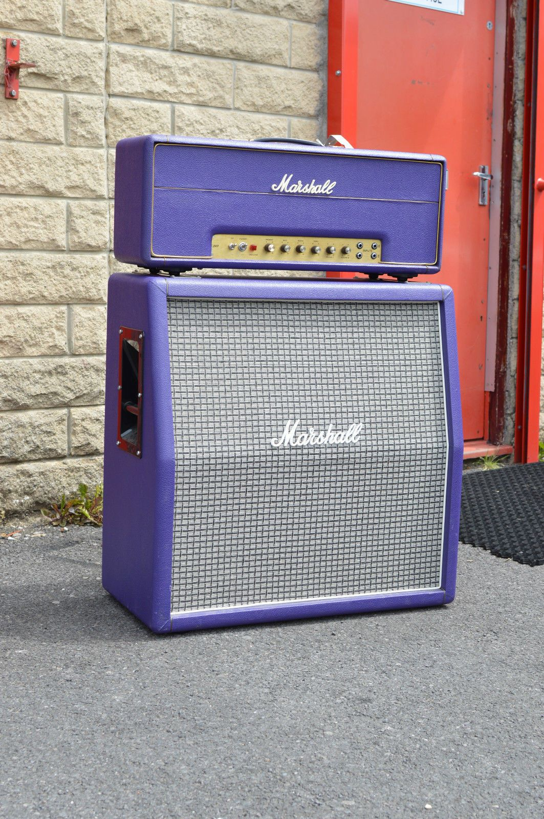 1973 Marshall 50 With Matching 1979 4x12 Cabinet 20 Year Old Re