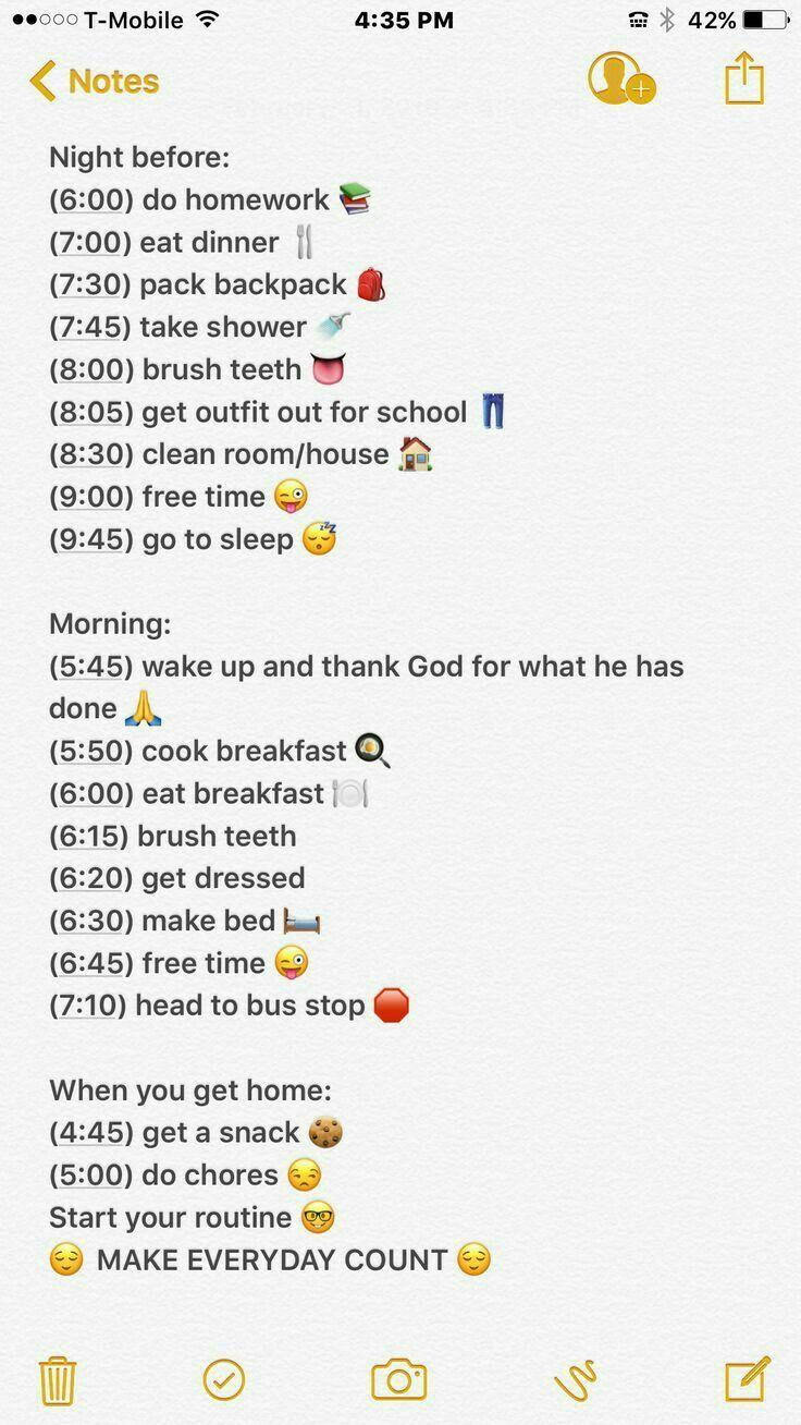 Starten Sie die Nachtroutine um 5 Uhr und die Next Day -Routine um 6:30 Uhr - Diät Blog #routine