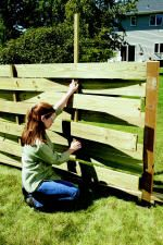 Building A Basket Weave Fence At The Home Depot In