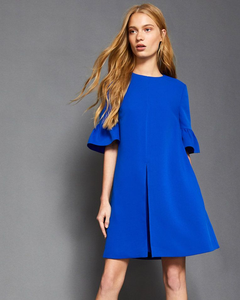 19414b5324b Frill sleeved playsuit - Mid Blue