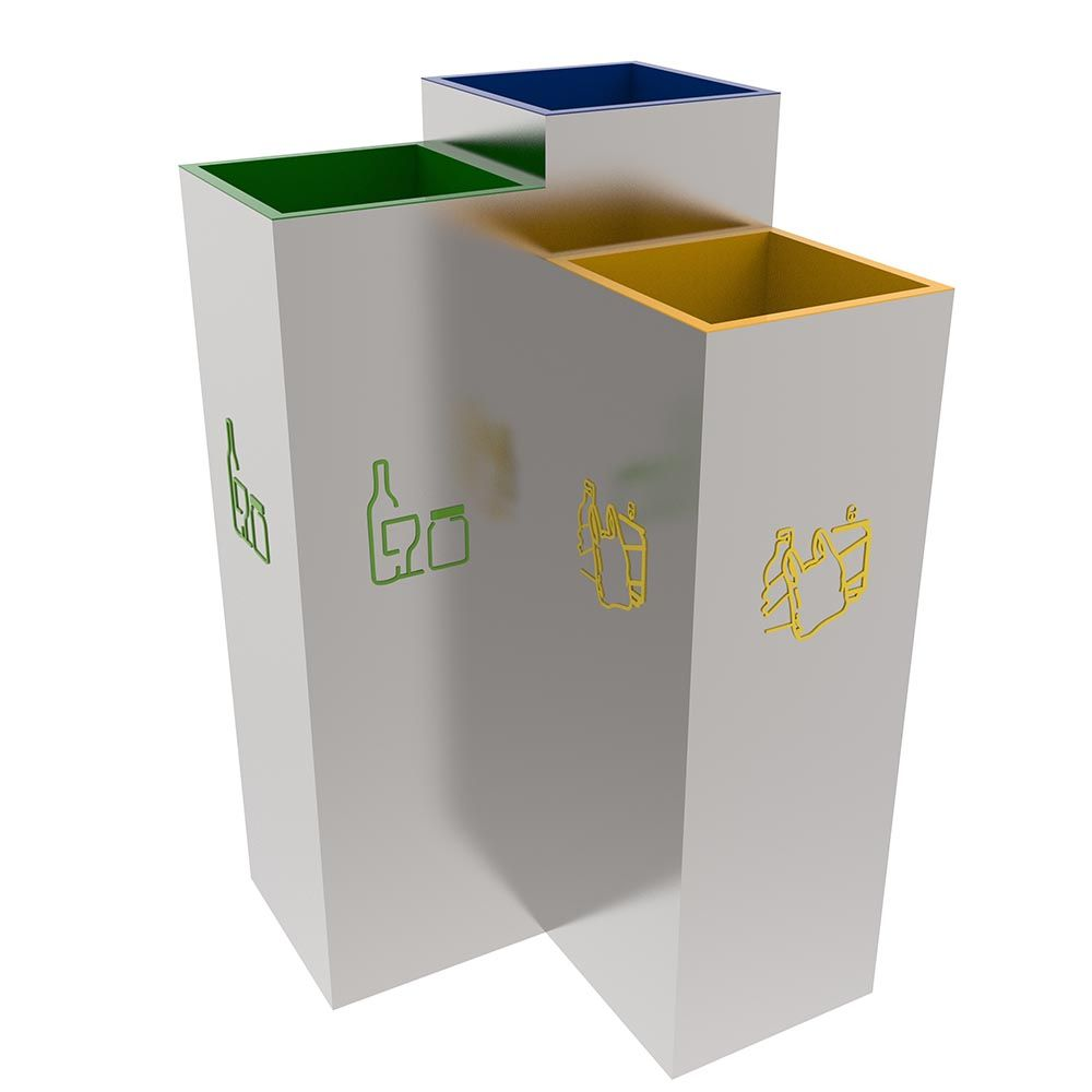 Si simplastic 3 way catheter - Bergen Stylish Design Recycling Litter Bins Station For Public Spaces 3x30l This Stylish Design Recycling Bin