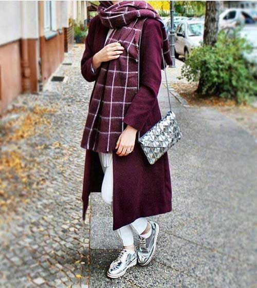 Long-maroon-trench-coat-outfit- Fashion fall winter trends for 2017 http//www.justtrendygirls ...