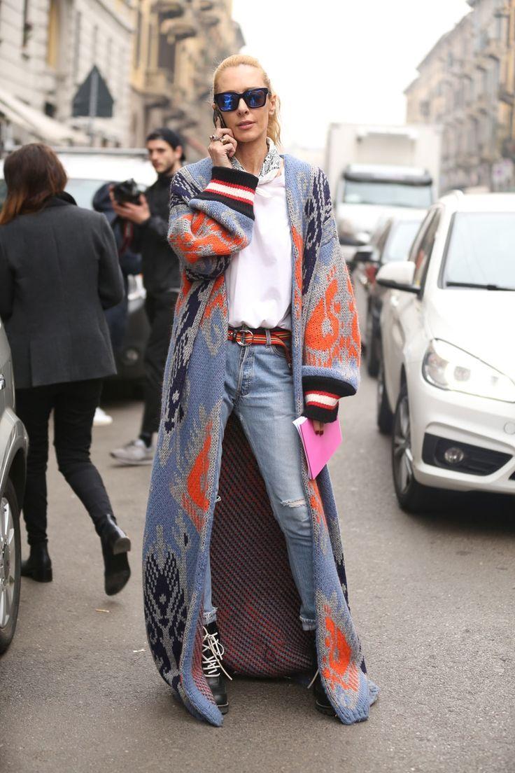 Milan Fashion Week Street Style 2017 #denimstreetstyle