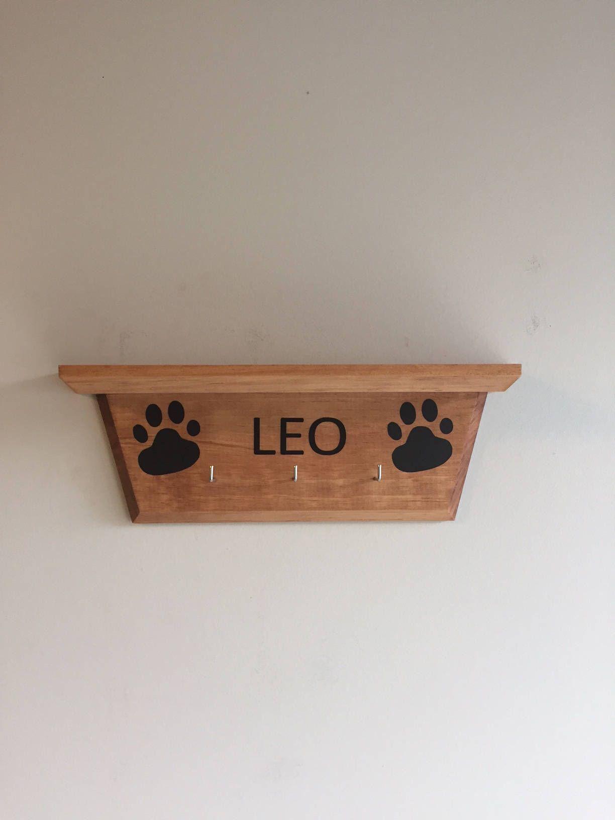 Dog Leash Holder W/ Shelf / Dog Leash Hanger / Custom Dog Leash Hanger /  Custom Dog Leash Holder / Wood Dog Leash Hanger / Dog Leash Storage