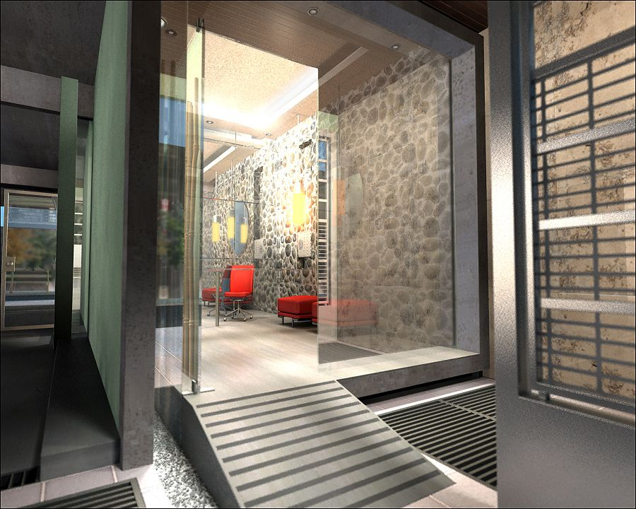 Proyecto para hall de entrada de edificio paliers y - Decoracion hall de entrada edificios ...