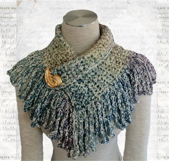Crochet Neckwarmer With Loop Fringe by TheWrapStation on Etsy ...