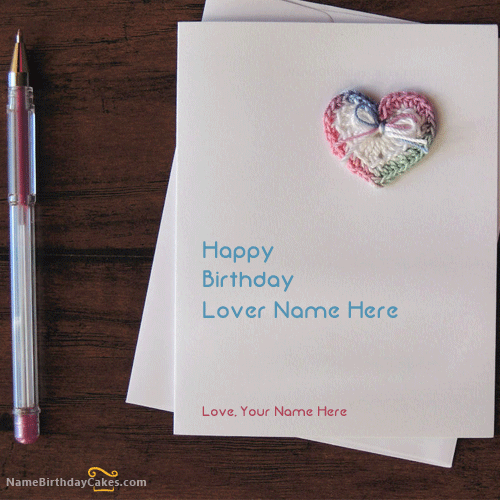 write name on Handmade Lover Birthday Card picture – Writing Birthday Greetings
