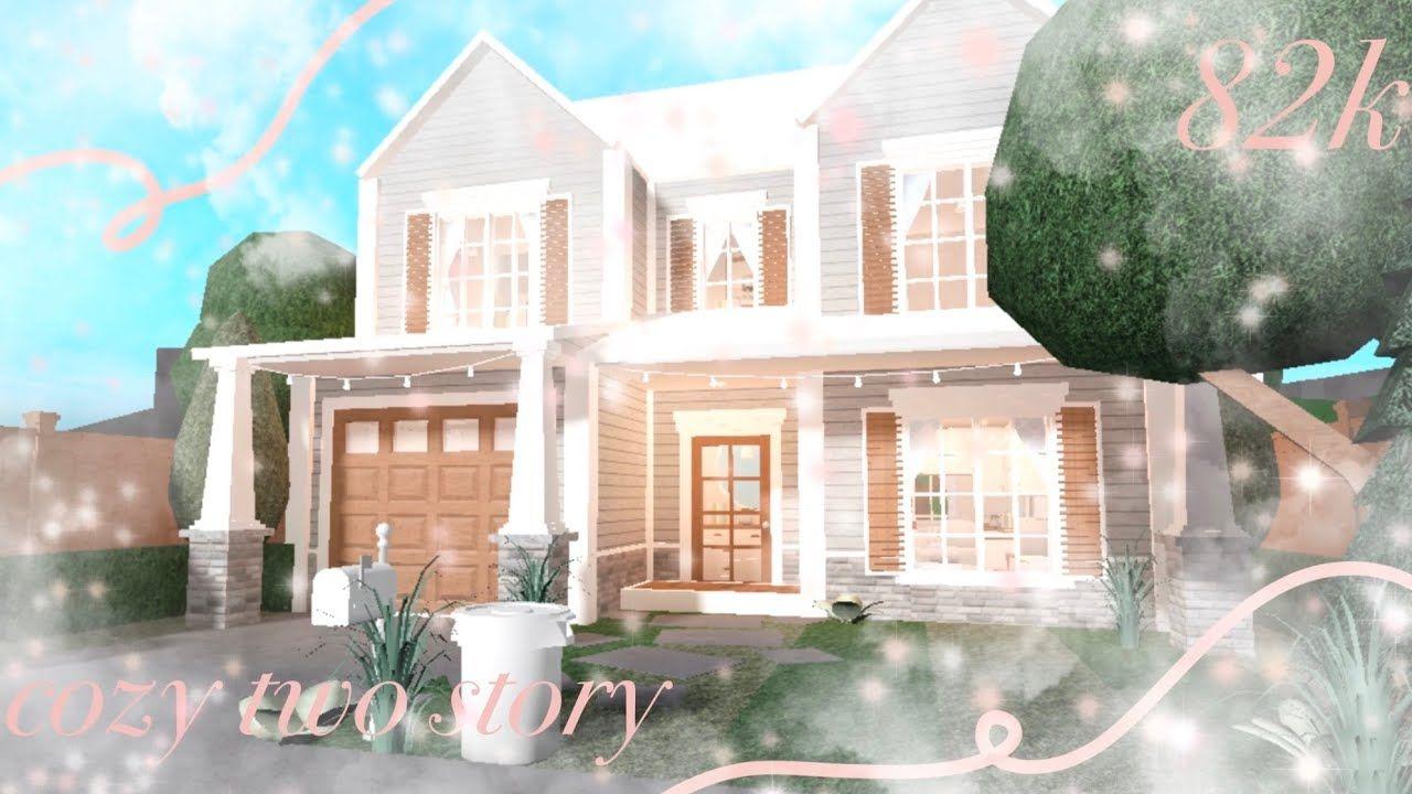 Cozy Two Story House Bloxburg 82k Youtube In 2020 Story House Two Story House Design Dream House Exterior
