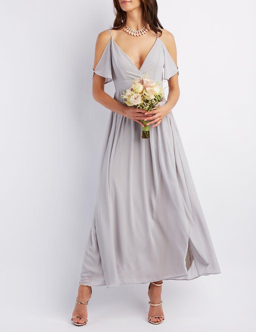 Flutter Sleeve Surplice Maxi Dress #charlottelook | Charlotte Russe ...
