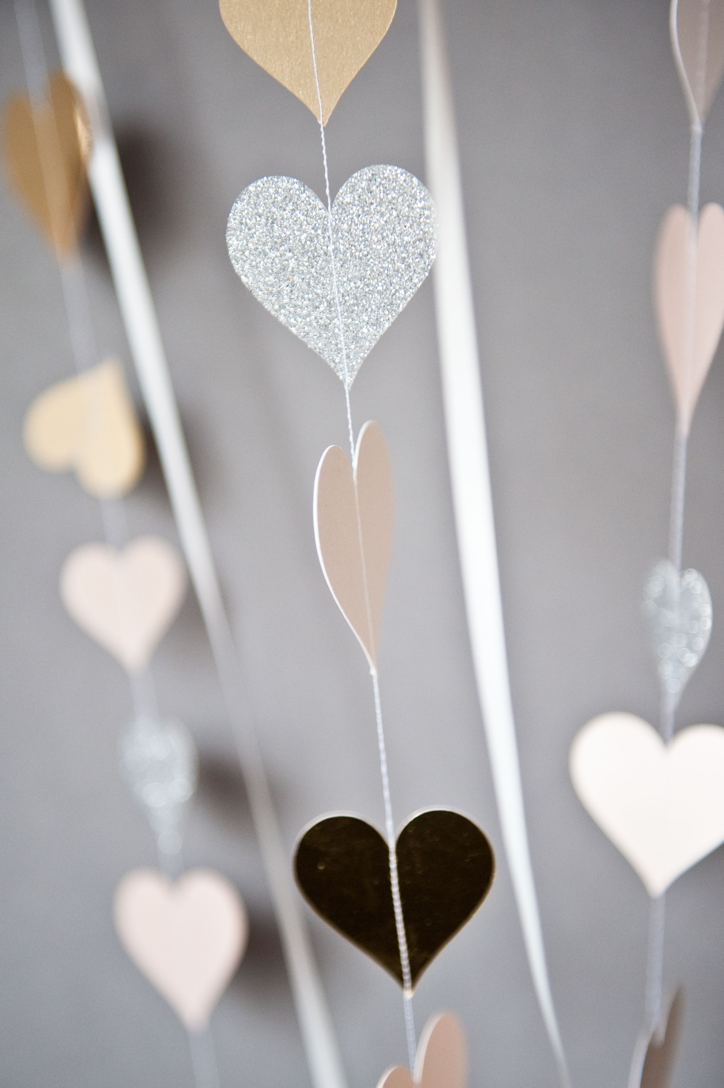 paper cut heart garlands from The Hummingbird Card Company | HB ...