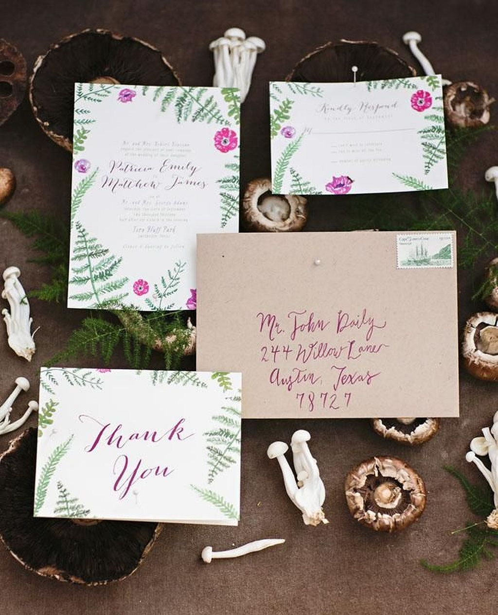 30+ Incredible Forest Wedding Invitation Design | Forest wedding ...