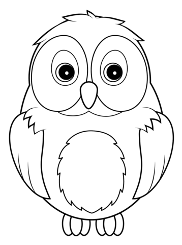 Cute Owl coloring page from Owls category. Select from 20946 printable crafts of cartoons, nature, animals, Bible and many more.