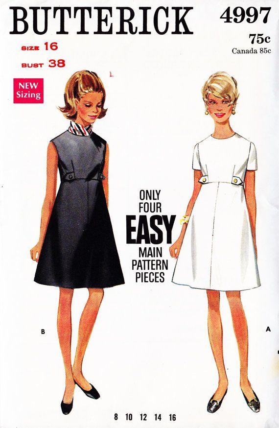 1960s Misses A Line Skirt Dress | FoMa fashion | Pinterest | 60er