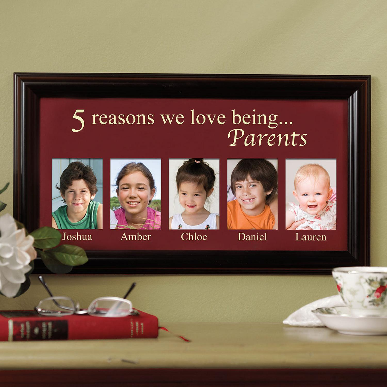 6acc3d0a5a Personalized Reasons We Love Frame - 5 Pictures - Personal Creations Gifts
