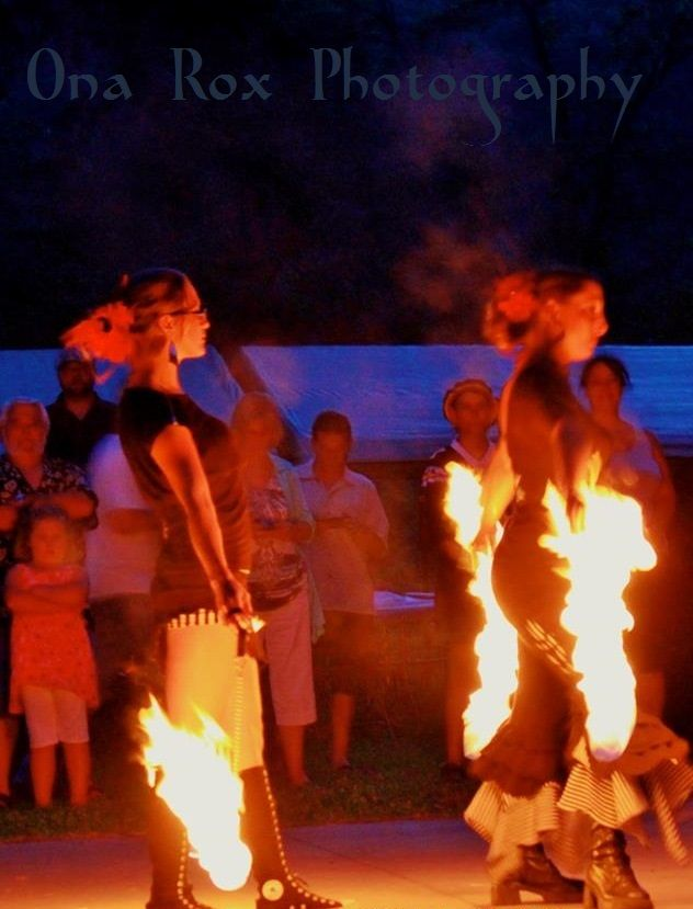 Cooks Valley Camp Ground  in Humboldt County Private Wedding Fire Dance Performance
