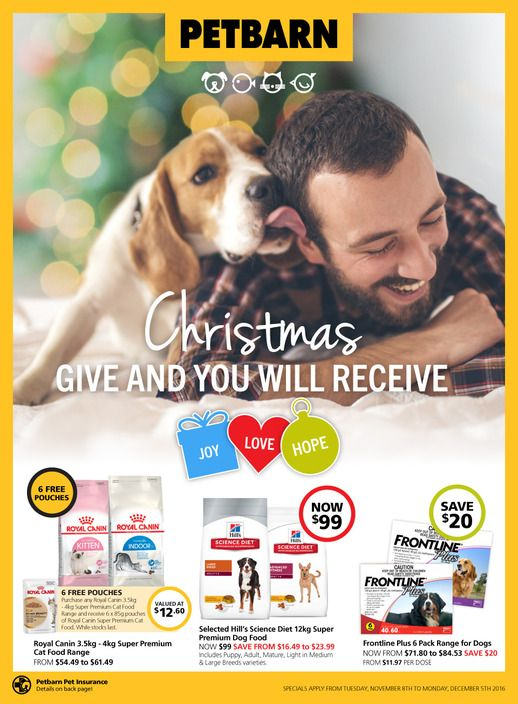 Petbarn Catalogue 8 November 5 December 2016 Christmas Give And You Will Receive Catalog Weekly Specials Premium Dog Food