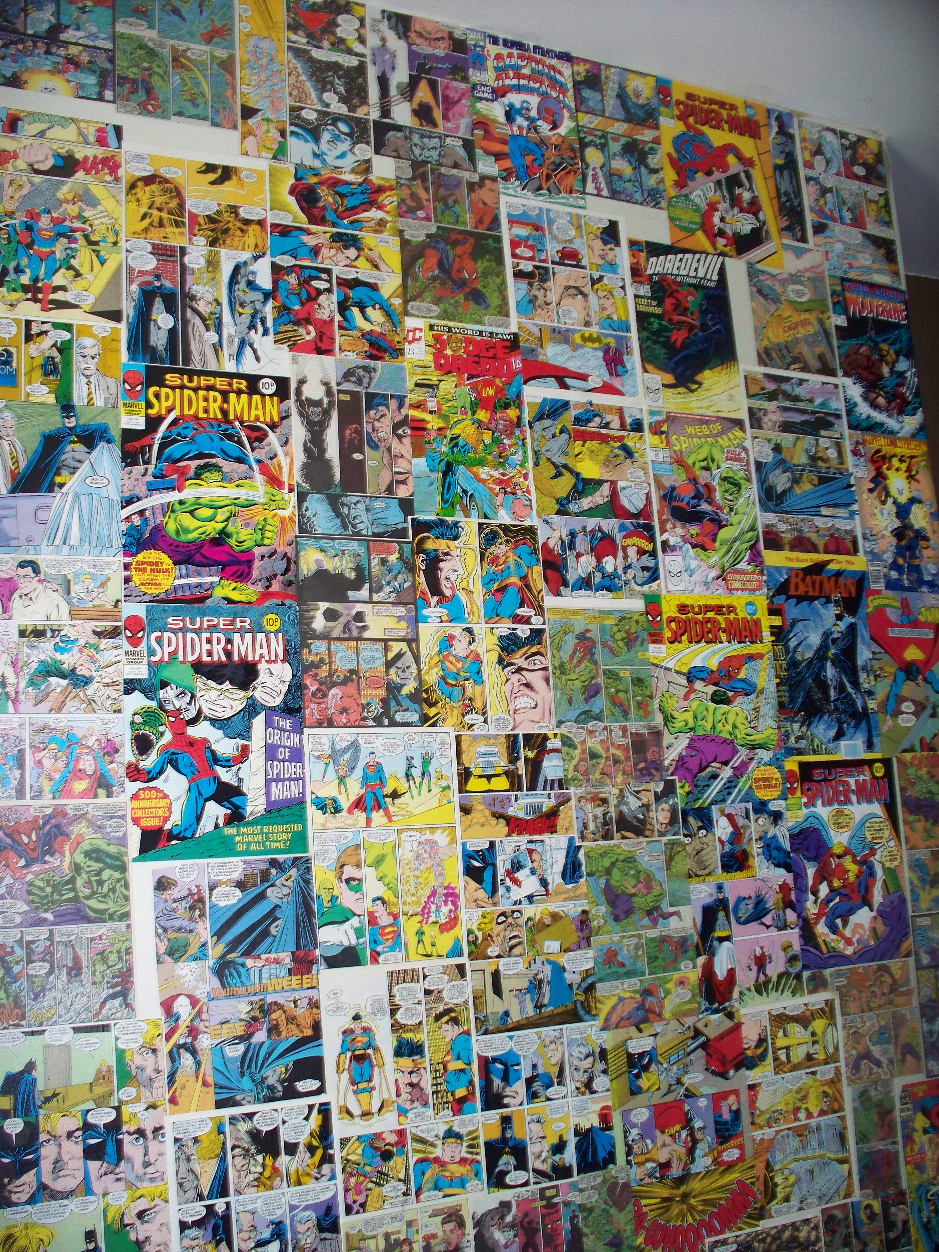 Comic Strip Wallpaper Very Easy To Do And Looks Great Stripped Wallpaper Wallpaper Diy Art