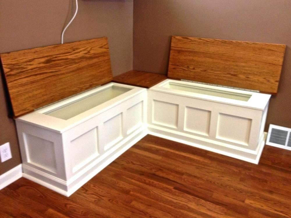 Kitchen Nook Bench With Storage Regarding Breakfast Plans 0 In