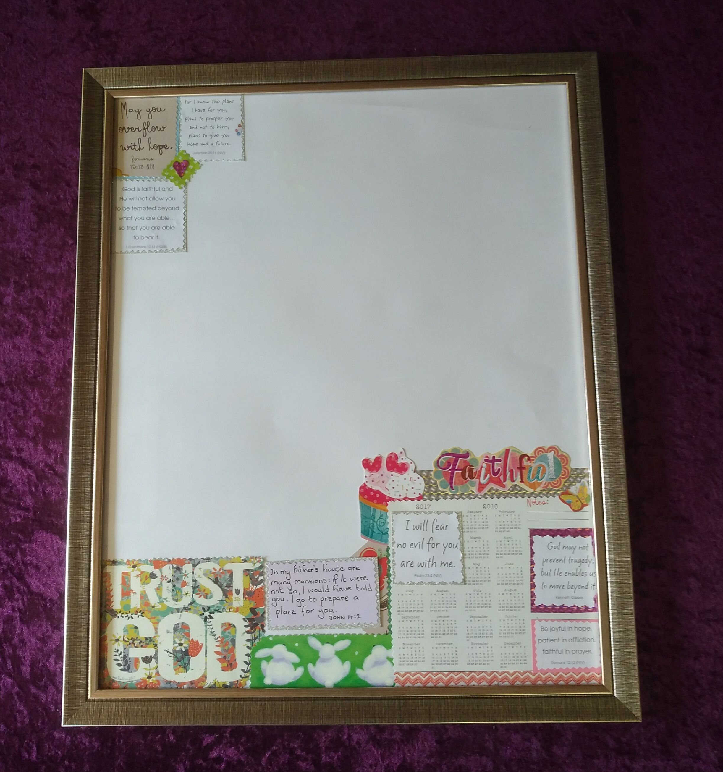 Whiteboard with a twist......use an old picture frame decorate ...