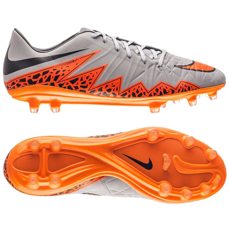 623450268b New $130 Nike Hypervenom Phatal 2 II FG Mens Soccer Cleats Grey Orange -  Size 13