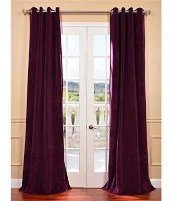 Purple Velvet Curtains Half Price Drapes Elegant Curtains Colorful Curtains
