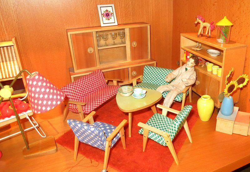 alte Bodo Hennig Wohnzimmermöbel Bodo, Miniatures and Dolls - barbie wohnzimmer möbel
