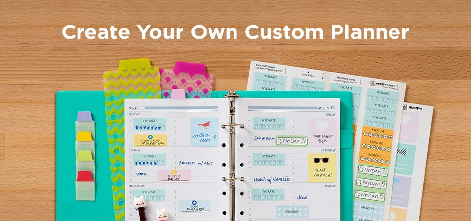 Create Your Own Custom Planner Avery Custom planner