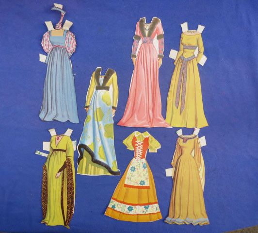 Vintage 1958 Walt Disney Sleeping Beauty Paper Dolls ...