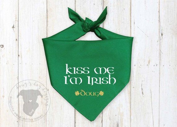 ST PATRICKS DAY BANDANA NEW KISS ME