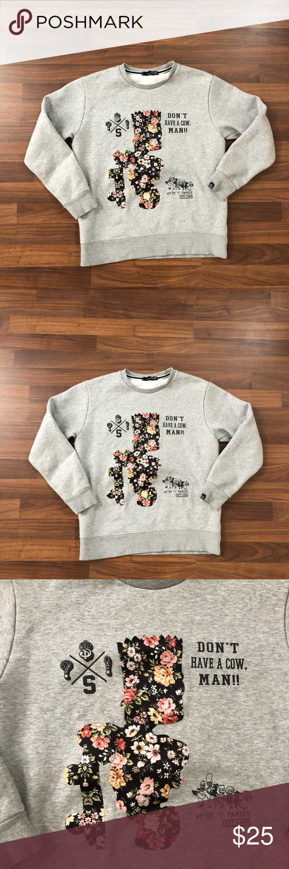 Bart Simpson Udlr Crewneck Sweatshirt Shirt Sweatshirts Hoodie Crew Neck [ 1740 x 580 Pixel ]