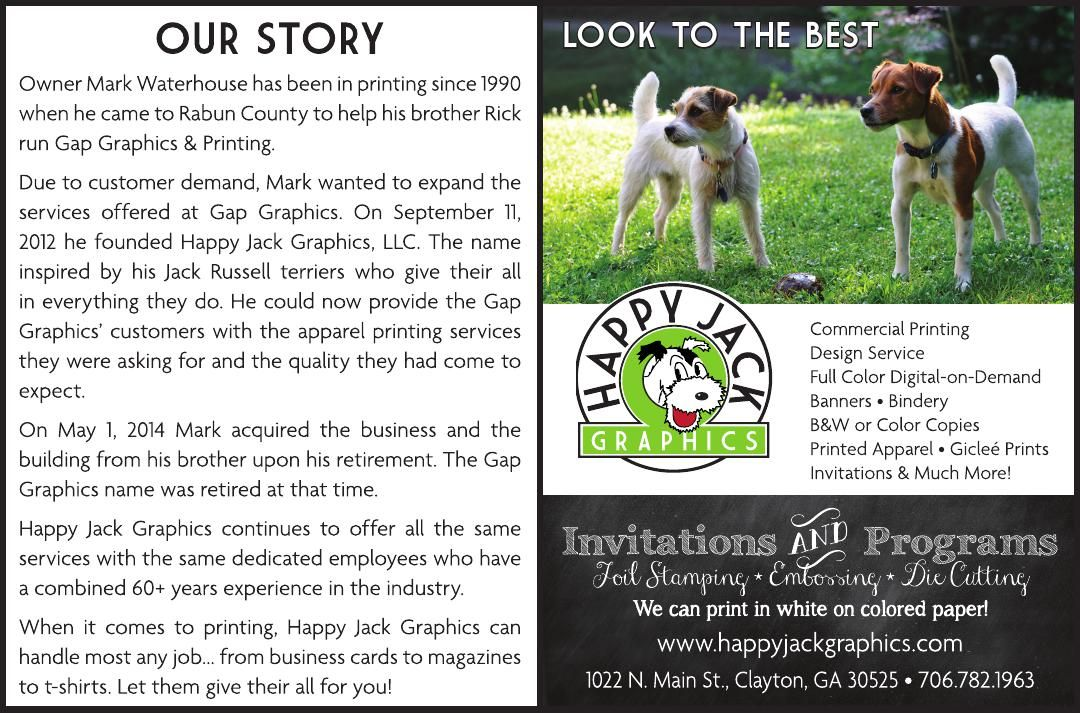 OUR STORY Owner Mark Waterhouse has been in printing since