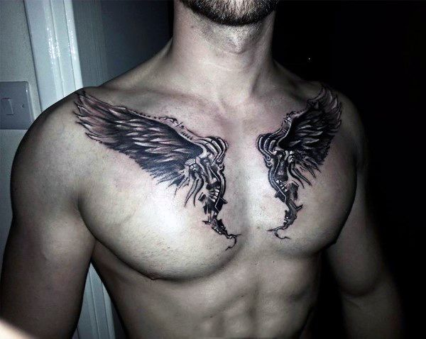 Pin On Collar Bone Tattoos For Men