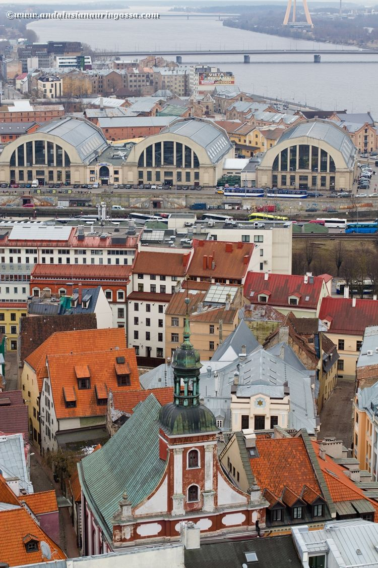 For breathtaking panoramic views over Riga, head over to St.Peter's Church Tower #travelblog #Riga #Latvia #visitLatvia #visitRiga #citybreak #cityscape #travelphotography #wanderlust #exploretheworld #architecture