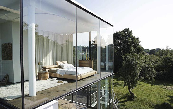 Modern Bedroom Design with Windows Glass from Roche Bobois