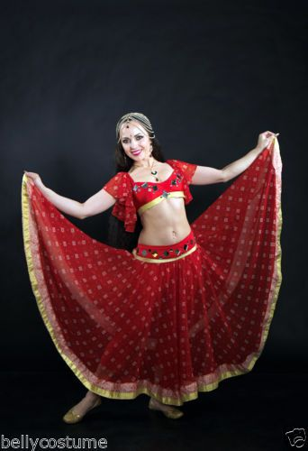 079cdceb26e0c Details about INDIAN, BELLYDANCE, BOLLYWOOD DANCE COSTUME, WOMENS ...