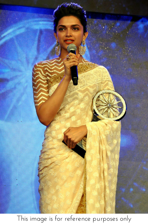 White and gold saree | Indian love | Deepika padukone ...