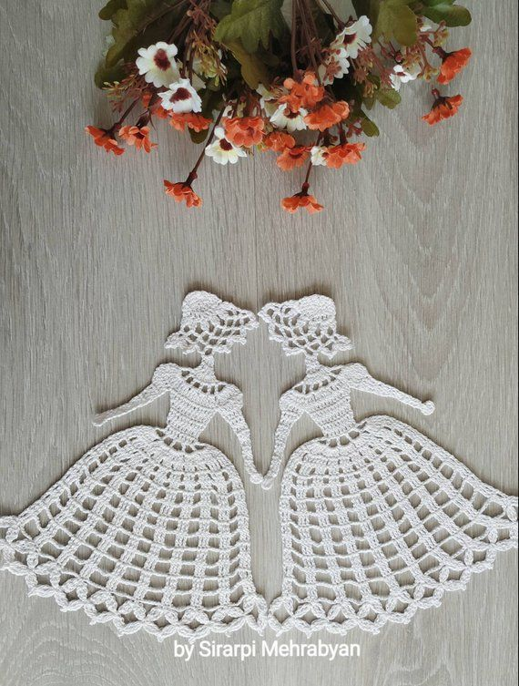 Crinoline Lady Doily Crochet Pattern PDF Christmas gift Lady applique pattern Victorian Themed Ladies Diy craft instant Download Mother day #craftstomakeandsell