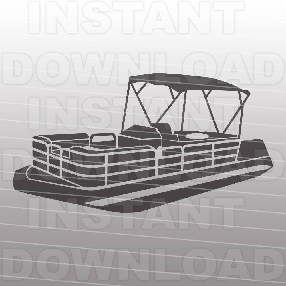 pontoon boat svg file boating svg file boat life svg vector clip art [ 1000 x 1000 Pixel ]