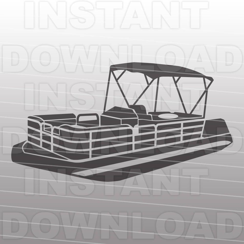 small resolution of pontoon boat svg file boating svg file boat life svg vector clip art